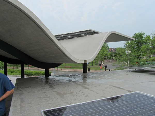 Boston Harbor Pavilion Roof with Photovoltaics
