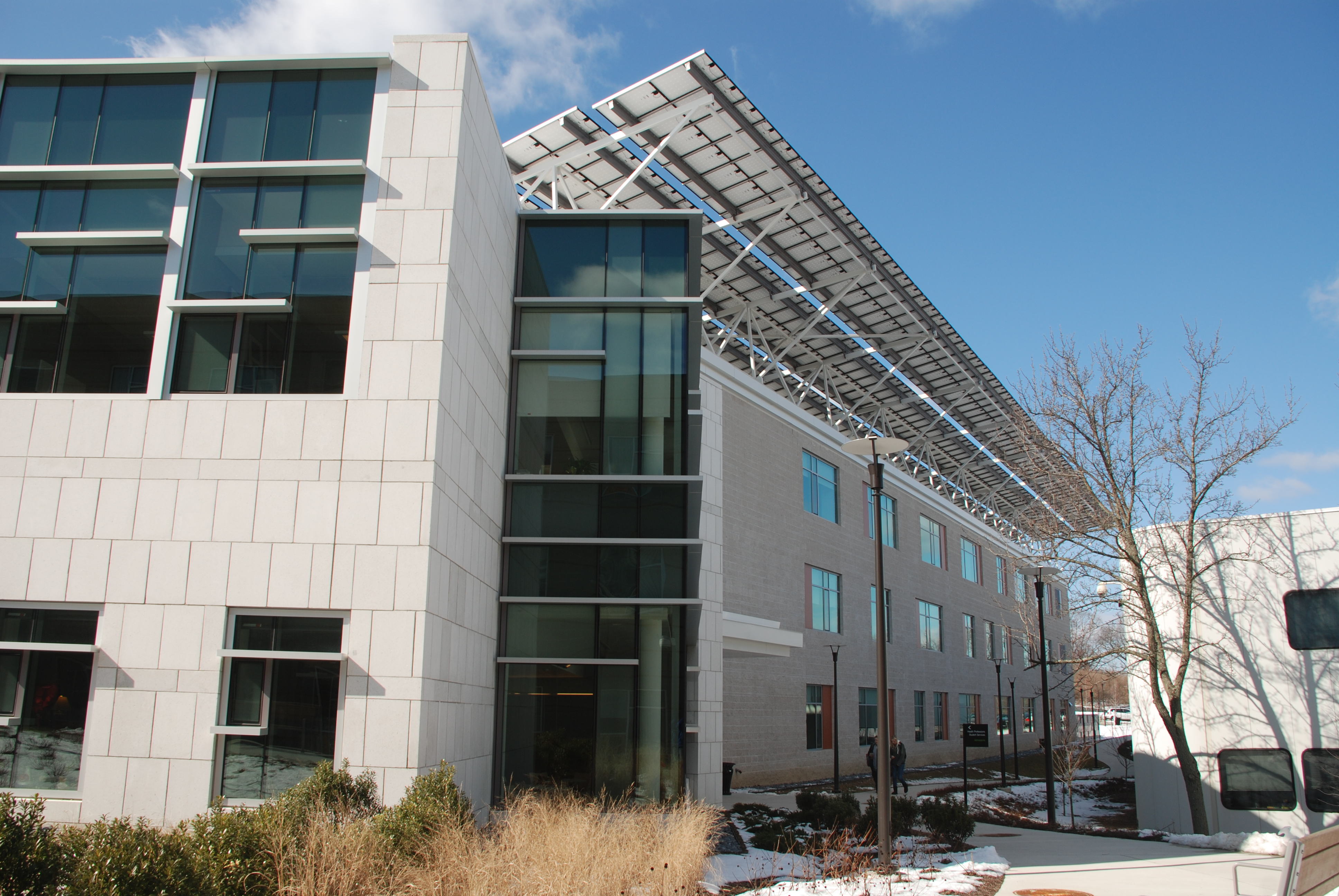 Allied Health Building North Facade with PV Structure