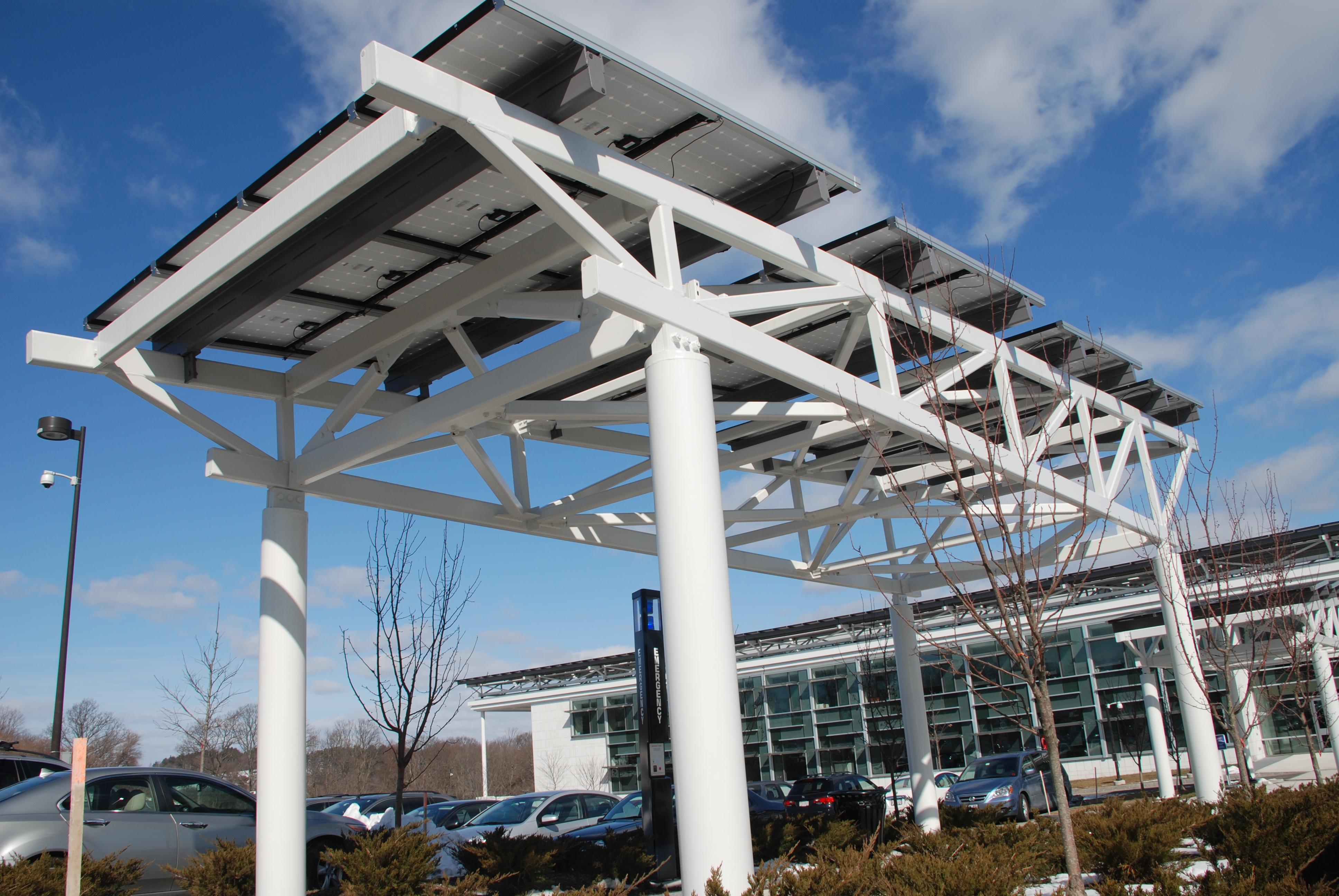 Parking Lot Walkway Canopy